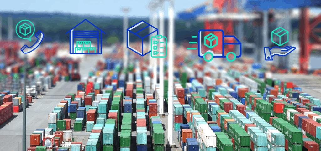 Digitale Warenwirtschaft: Containerhafen